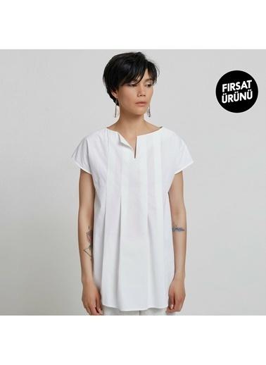 Yargıcı Kadın Tunik Gömlek 9KKGM6142X Beyaz